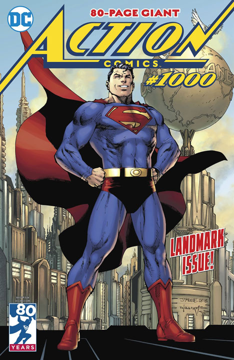 El homenaje de Action Comics #1000 a la historia multimedia de Superman
