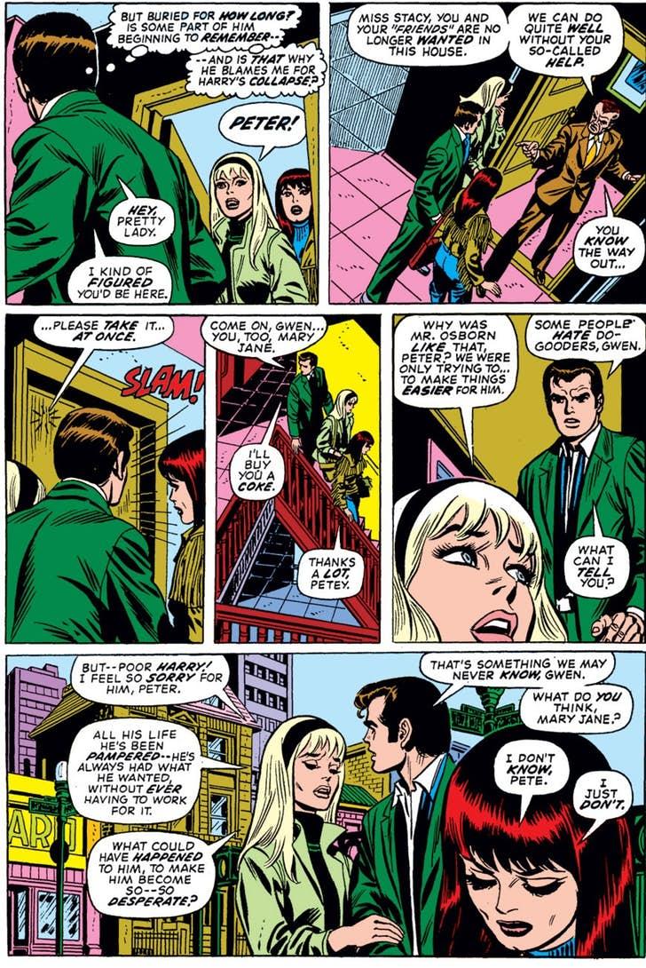 Los últimos momentos de Mary Jane y Gwen Stacy juntas