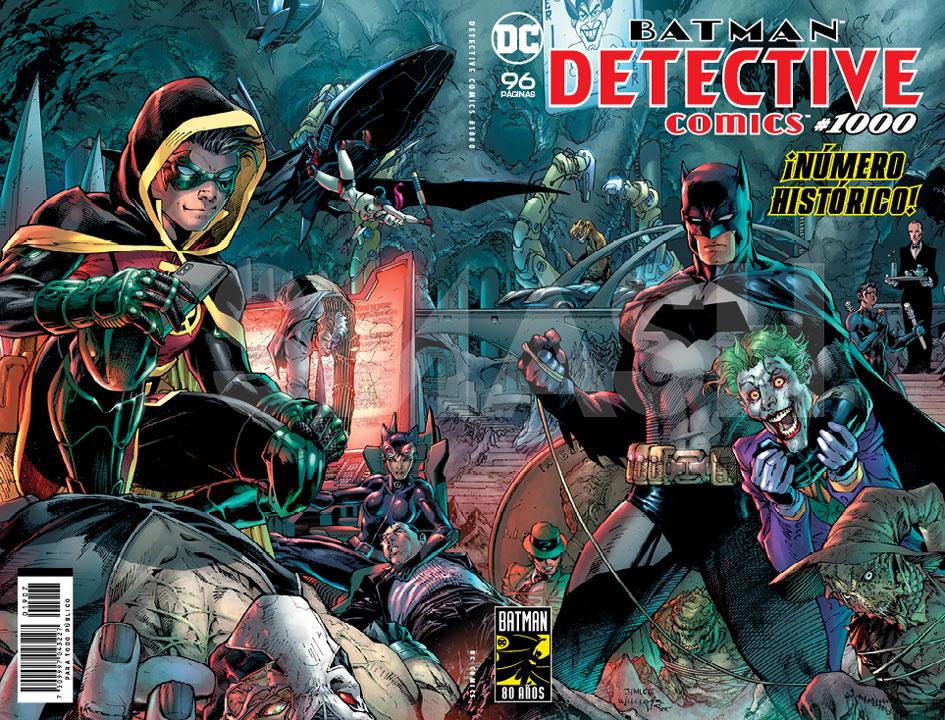 ¡Estas son las portadas que encontrarás en Detective Comics 1000!