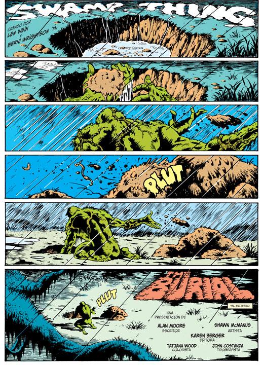 El homenaje de la serie Swamp Thing a la era de Alan Moore