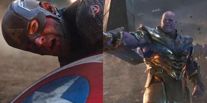 Captain America y Thanos