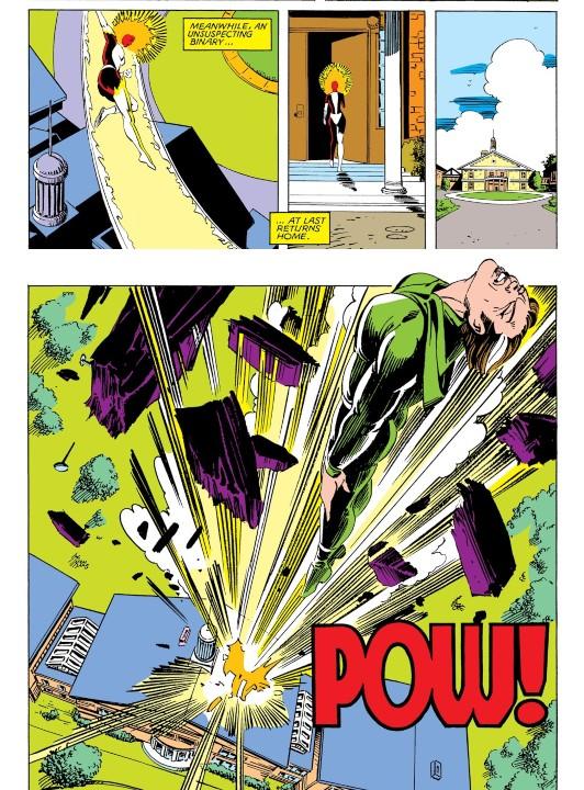 Las travesuras de Rogue en el destino de Captain Marvel