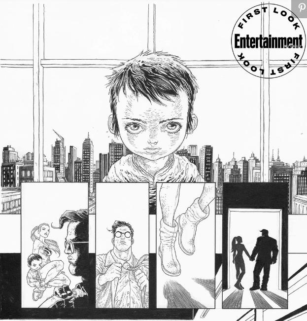 Viñeta de Fran Miller y su cómic The Dark Knight Returns: The Golden Child
