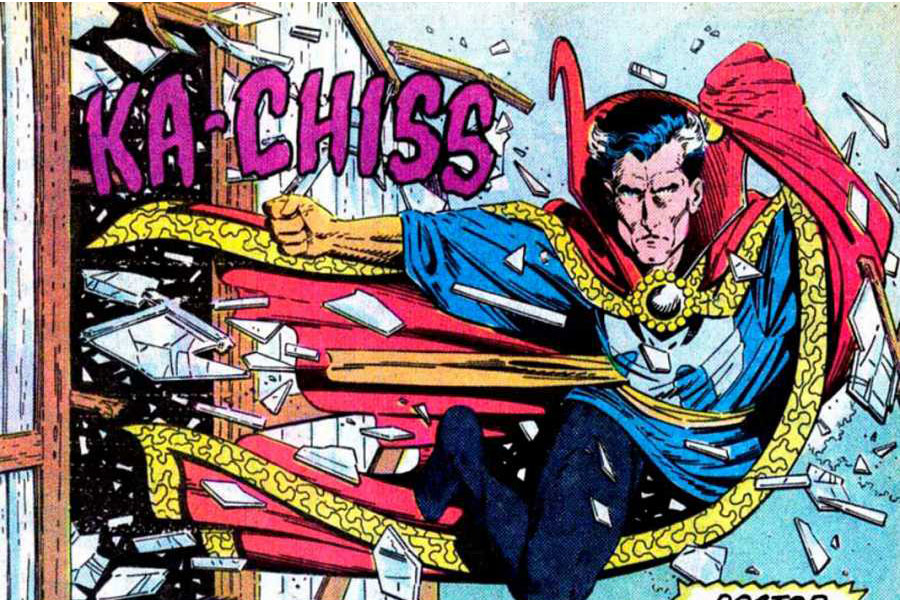 Doctor Strange haciendo uso de la Capa de Levitación.