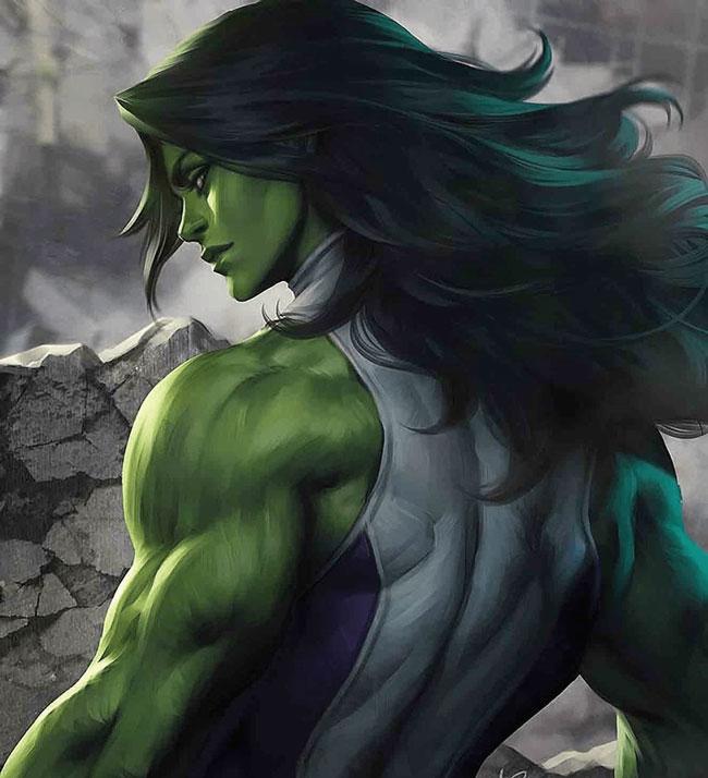 She Hulk dibujada por Artgerm.
