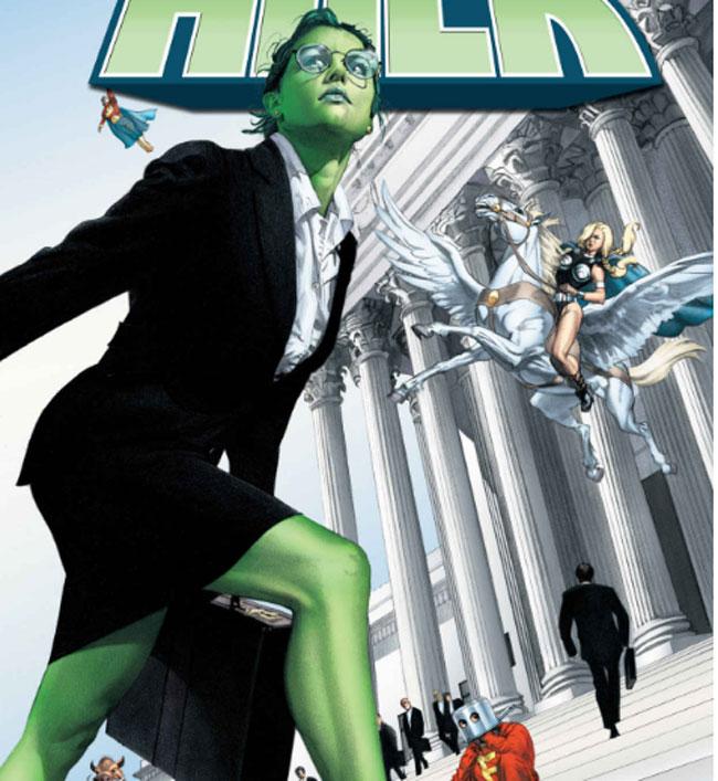 She Hulk como abogada.