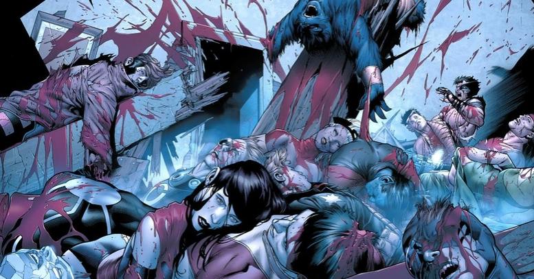 Escenas gore en Marvel.