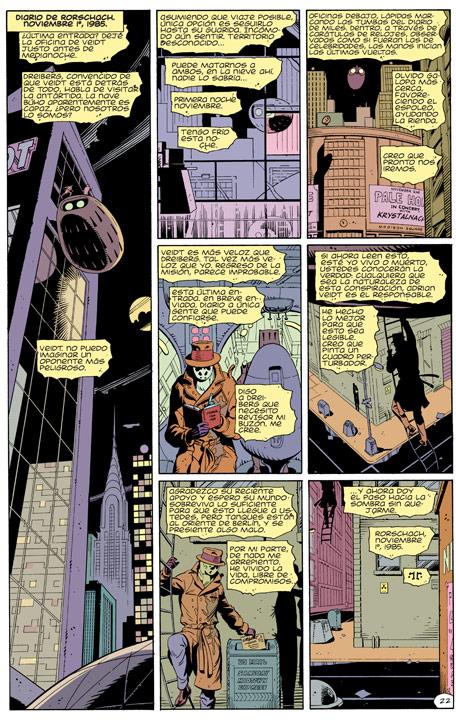 ¿Qué pasó con el diario de Rorschach después de Watchmen?