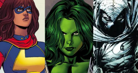 She-Hulk, Moon Knight y Ms. Marvel llegarán al cine