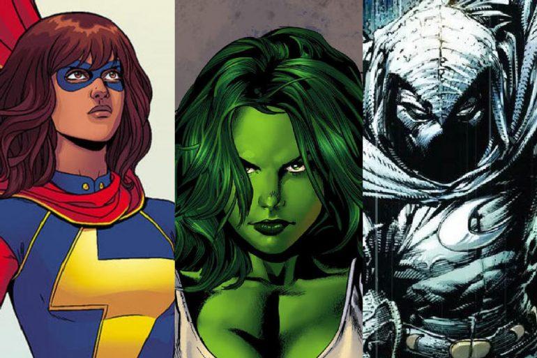 She-Hulk, Moon Knight y Ms. Marvel llegarán al cine