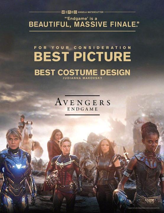 Así lucen los posters de Avengers: Endgame rumbo a los Oscares