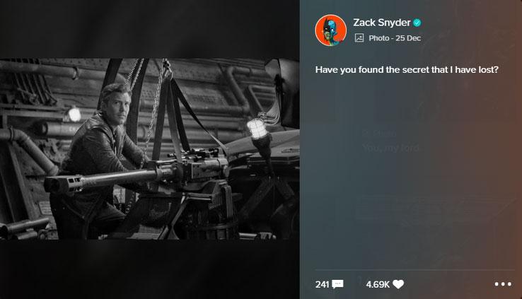 Fotos de la Justice League de Zack Snyder con frases de Excalibur