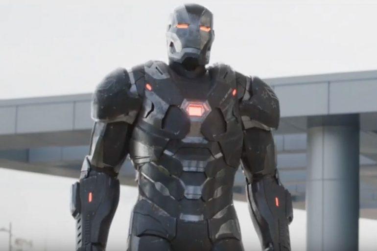 Así habría sido la armadura cósmica de War Machine en Endgame