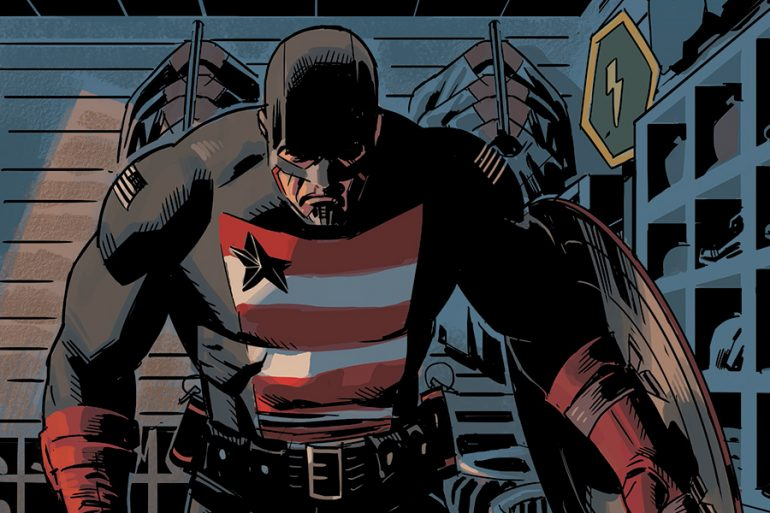 El U.S. Agent entra en acción en el set de The Falcon and the Winter Soldier