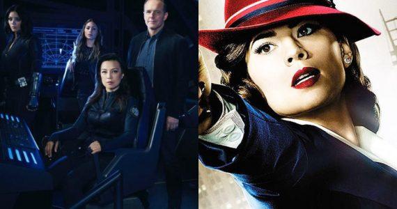 El agente Coulson festeja el crossover entre Agents of SHIELD y Agent Carter