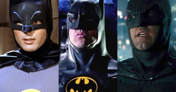 Las versiones live-action de Batman presentes en gran arte conceptual