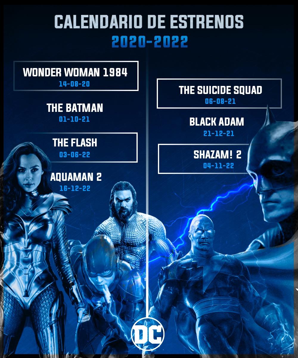 Calendario de Estrenos de DC Comics