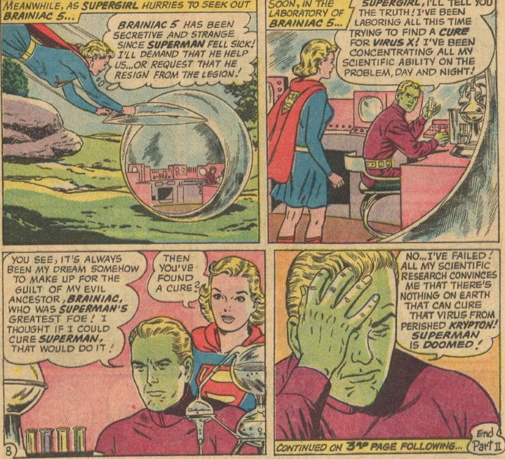 Superman ya sabe lo que es guardar la cuarentena por un virus