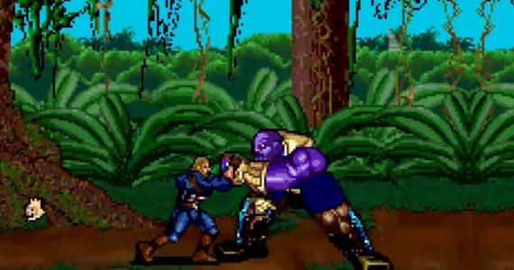 El chasquido de Thanos y la batalla final de Avengers: Endgame en 16 bits