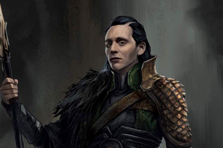 El traje de batalla de Loki en un arte conceptual de Thor: Ragnarok