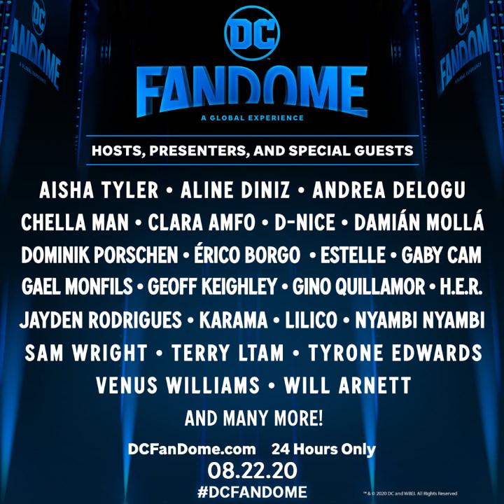 ¡Descubre a la lista de invitados a la DC FanDome!