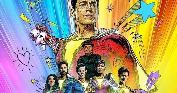 Zachary Levy comparte el primer póster de Shazam! Fury of the Gods