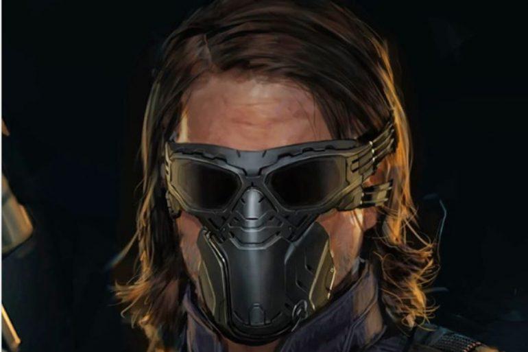 Arte conceptual revela el primer diseño de la máscara de Winter Soldier