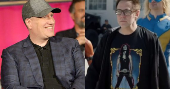 Kevin Feige visitó a James Gunn en el set de The Suicide Squad