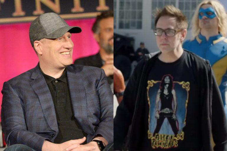 Kevin Feige visitó a James Gunn en el set de The Suicide Squad