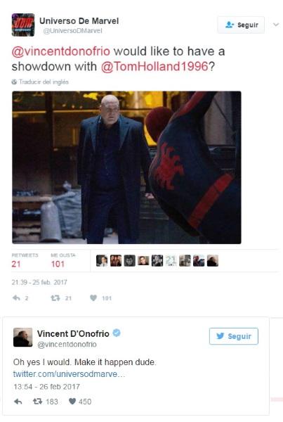 Vincent D'Onofrio quiere volver como Kingpin a Spider-Man 3