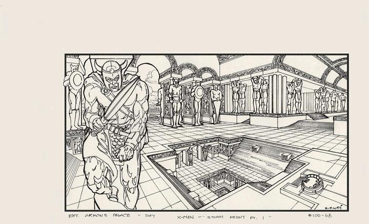 Un vistazo al libro X-Men: The Art and Making of the Animated Series.