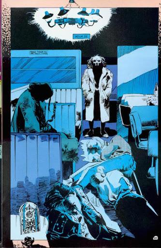 "24 Hours"" en The Sandman Vol 2 #6 (1989) Neil Gaiman y Mike Dringenberg, cuentos de terror"