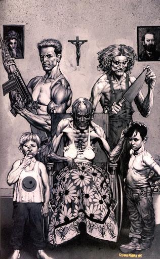 """All In The Family"""", en Preacher Vol. 1 #8-12 (1995-96), cuentos de terror de Vertigo Comics"""