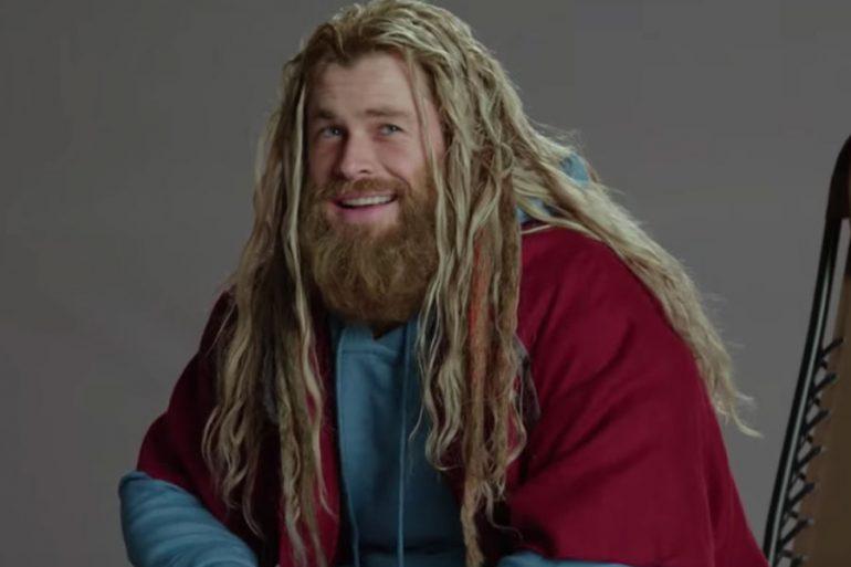 Thor canta con sentimiento en nuevo detrás de cámara de Avengers: Endgame