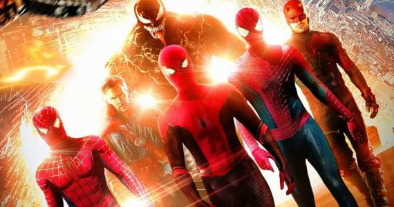 Un fan art imagina el Spider-Verse con Maguire, Garfield, Holland… y Hardy