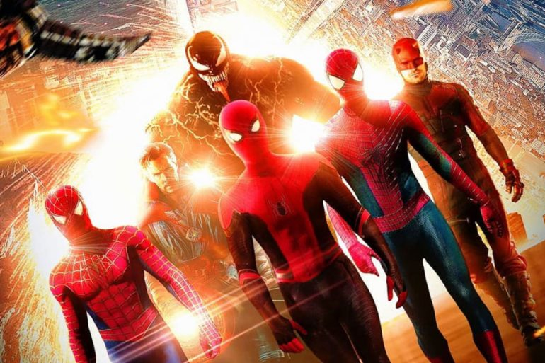 Un fan art imagina el Spider-Verse con Maguire, Garfield, Holland… y Hardy