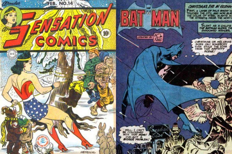 especiales navideños de dc comics