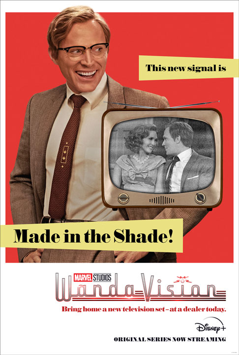 Marvel Studios presenta dos posters retro de WandaVision