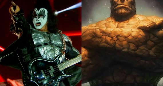 ¿De Kiss a Marvel? Gene Simmons quiso interpretar a The Thing en el cine