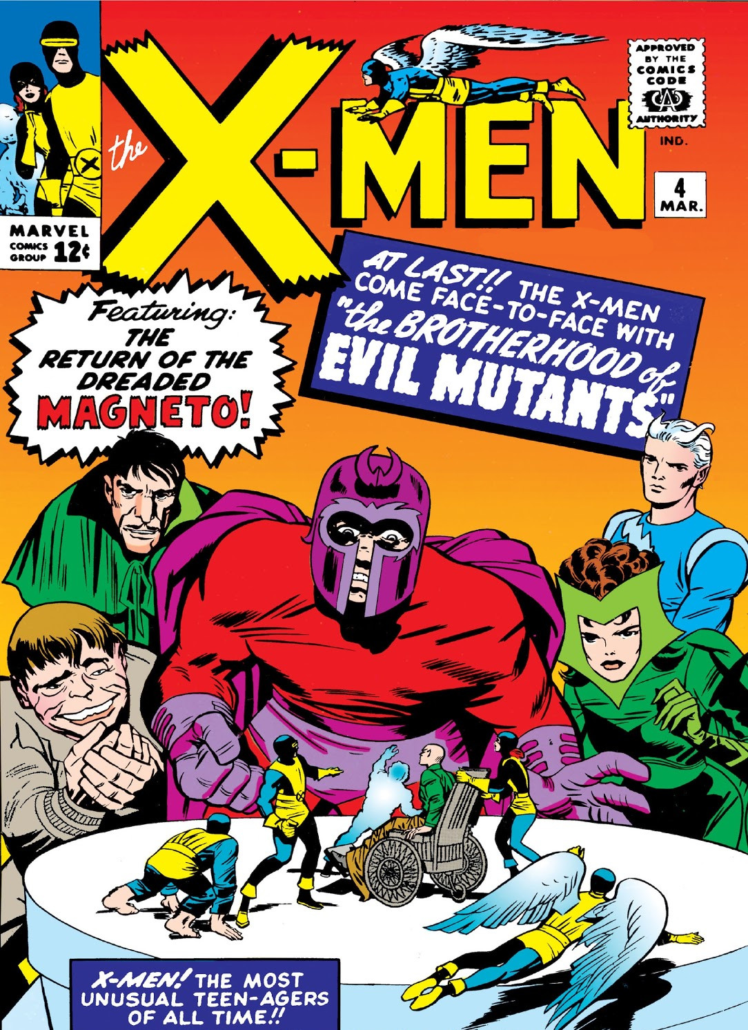 X-Men #4 (1964), con el debut de Scarlet Witch