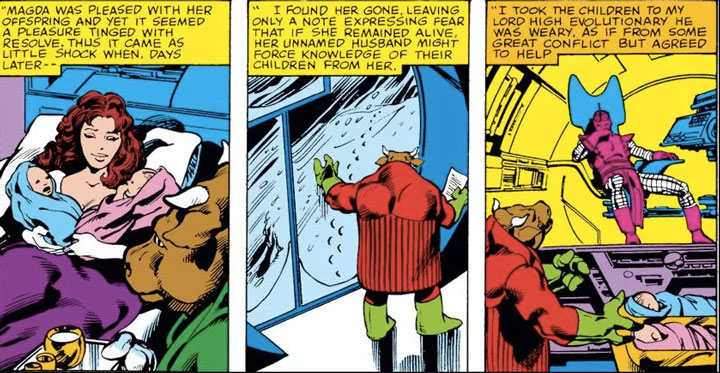 Cómics de la historia de Wanda y Vision