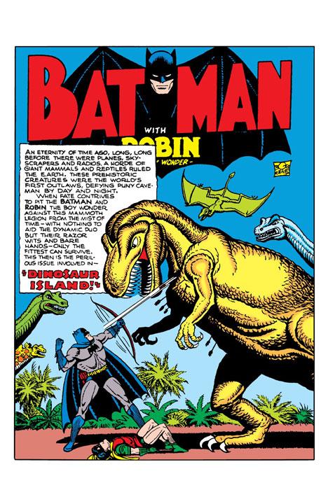 Batman: Dinosaur Island, 75 años del T-Rex gigante de la Baticueva