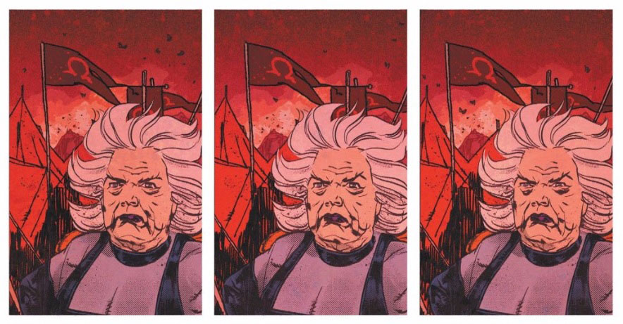 Granny Goodness acompaña a Darkseid y Desaad en el nuevo clip de Justice League