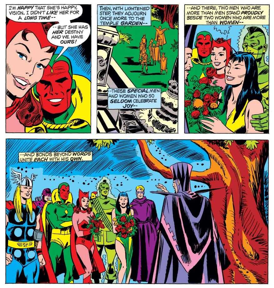 La historia de amor de Scarlet Witch y Vision