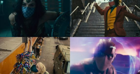 La Liga de la Justicia, Joker y Harley Quinn te recuerdan: Usa el cubrebocas