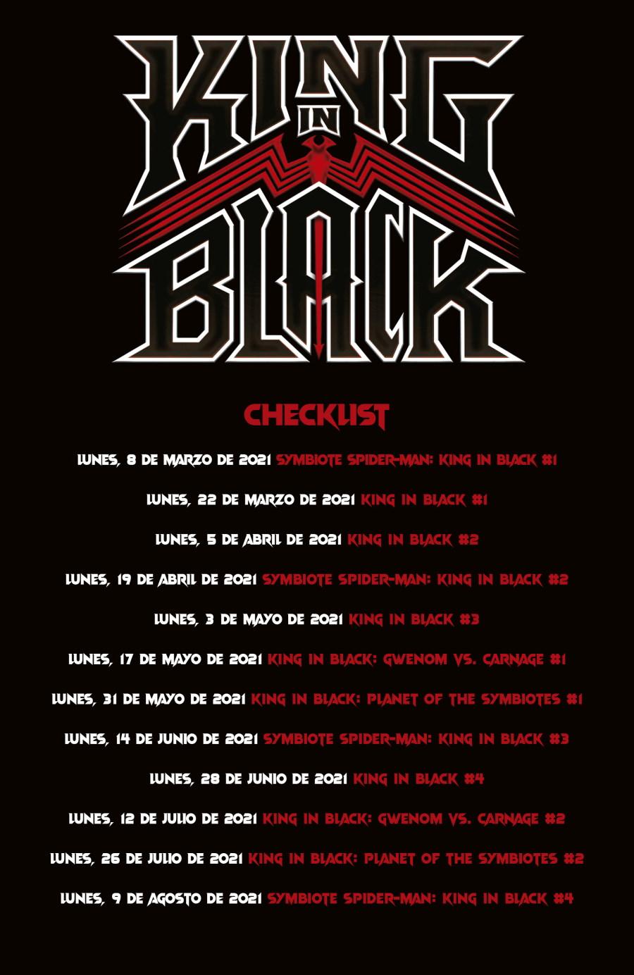 King in Black, Calendario de publicaciones, SMASH México