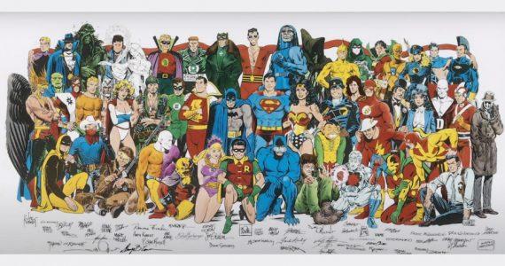 ¡Una joya! Subastan póster de DC hecho por Jack Kirby, Bob Kane y otras leyendas