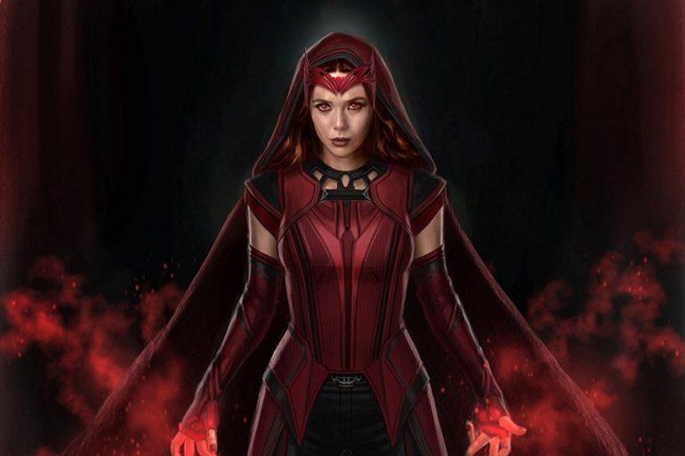 WandaVision: Nuevo arte conceptual presenta a Scarlet Witch con capucha