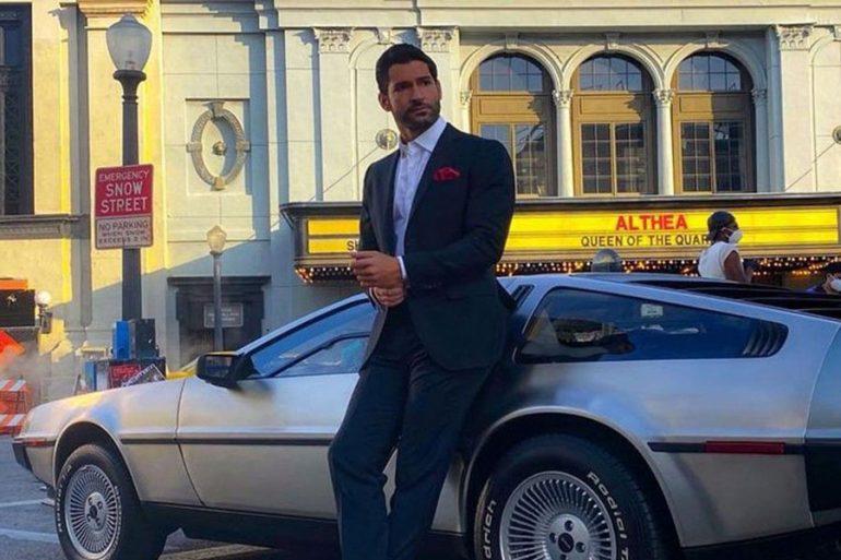 Tom Ellis comparte foto de la temporada 6 de Lucifer ¿con el DeLorean?