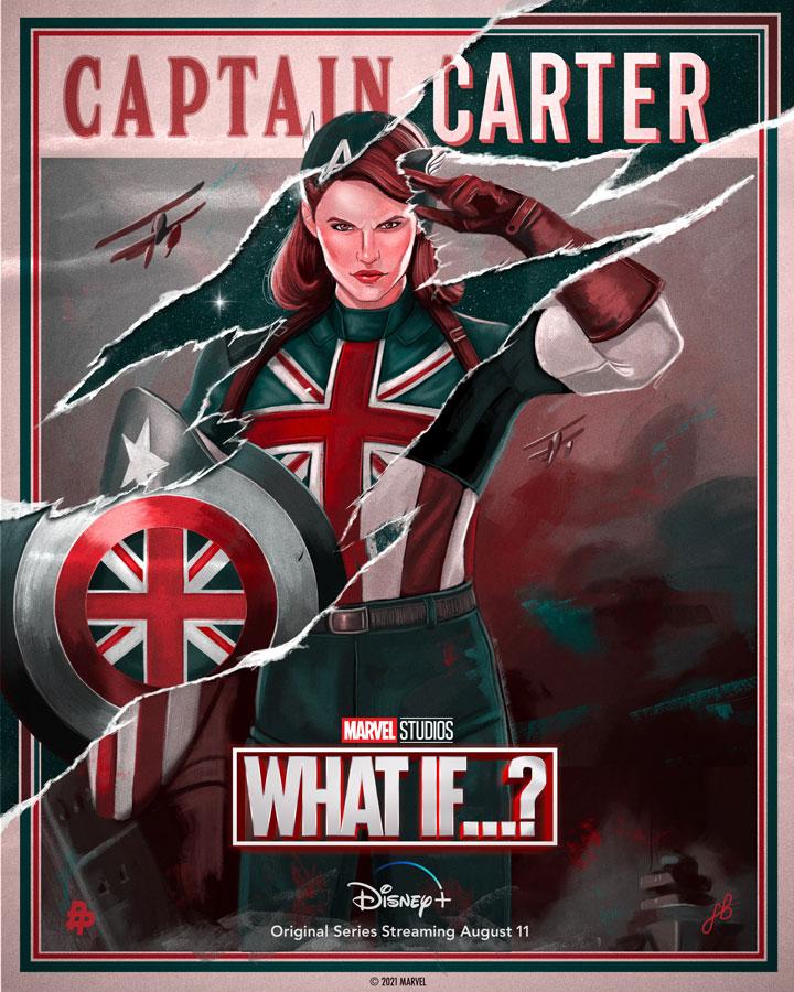 What If...? presenta un impactante póster con la Capitana Carter